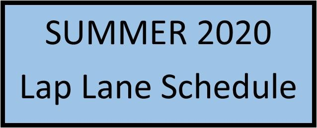 Summer Lap Lane Sched.