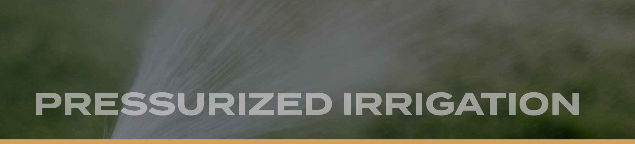 Website Banners 2020 - Pressurized Irrigation