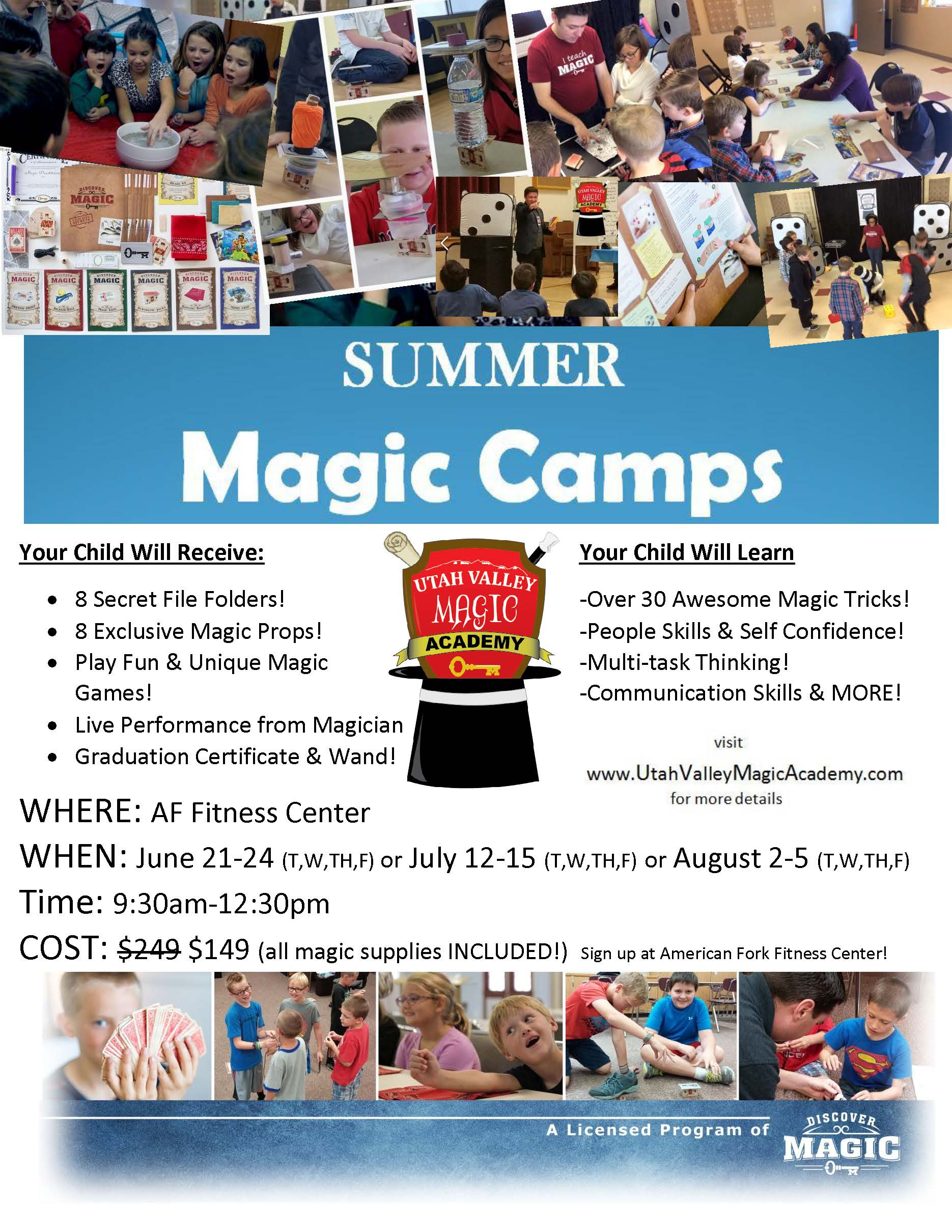 Magic Camp Flyer summer