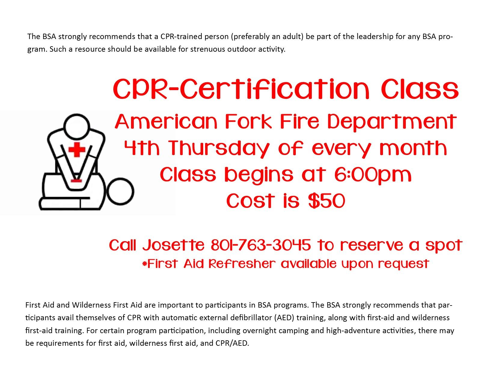Boy scouts merit badges american fork ut official website cpr class robcynllc Choice Image