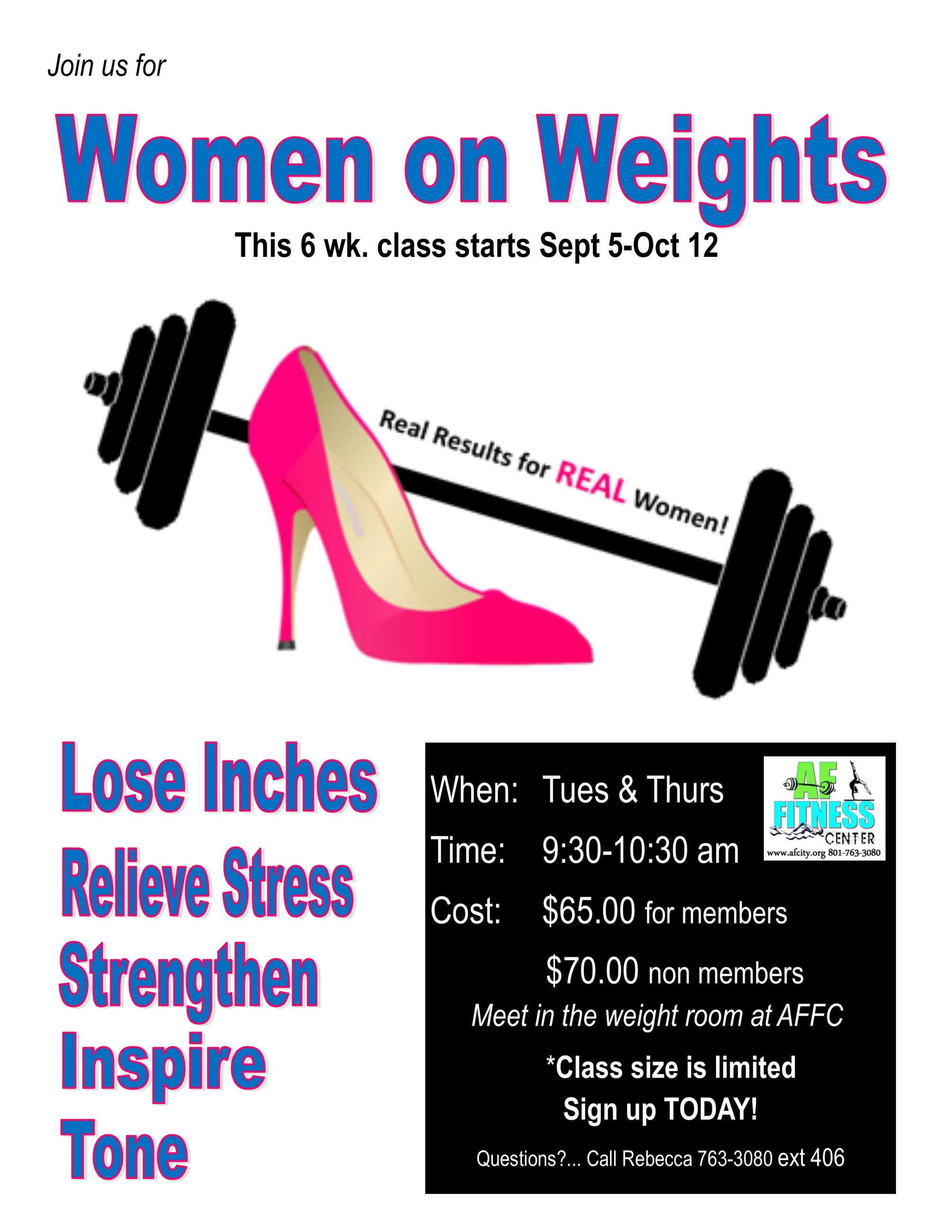 emilees women on weights flyer
