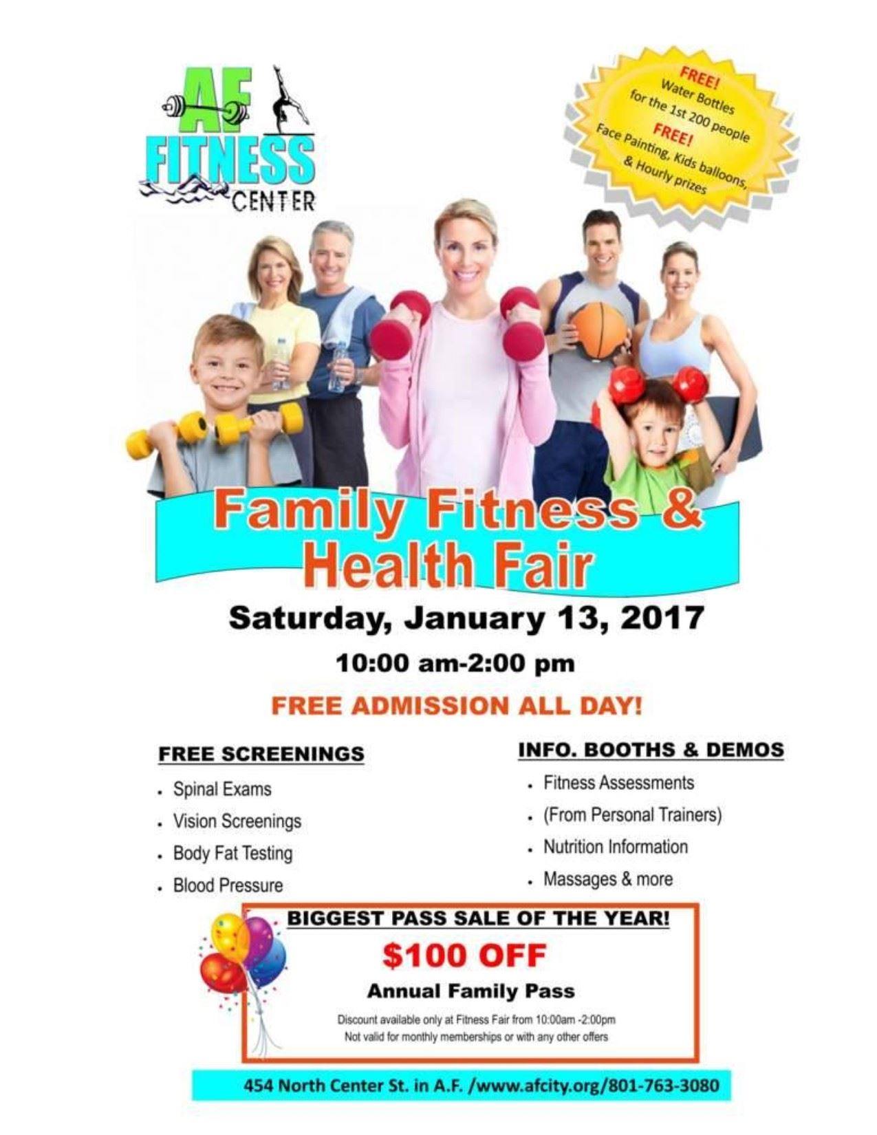 Fitness Fair Flyer 2018